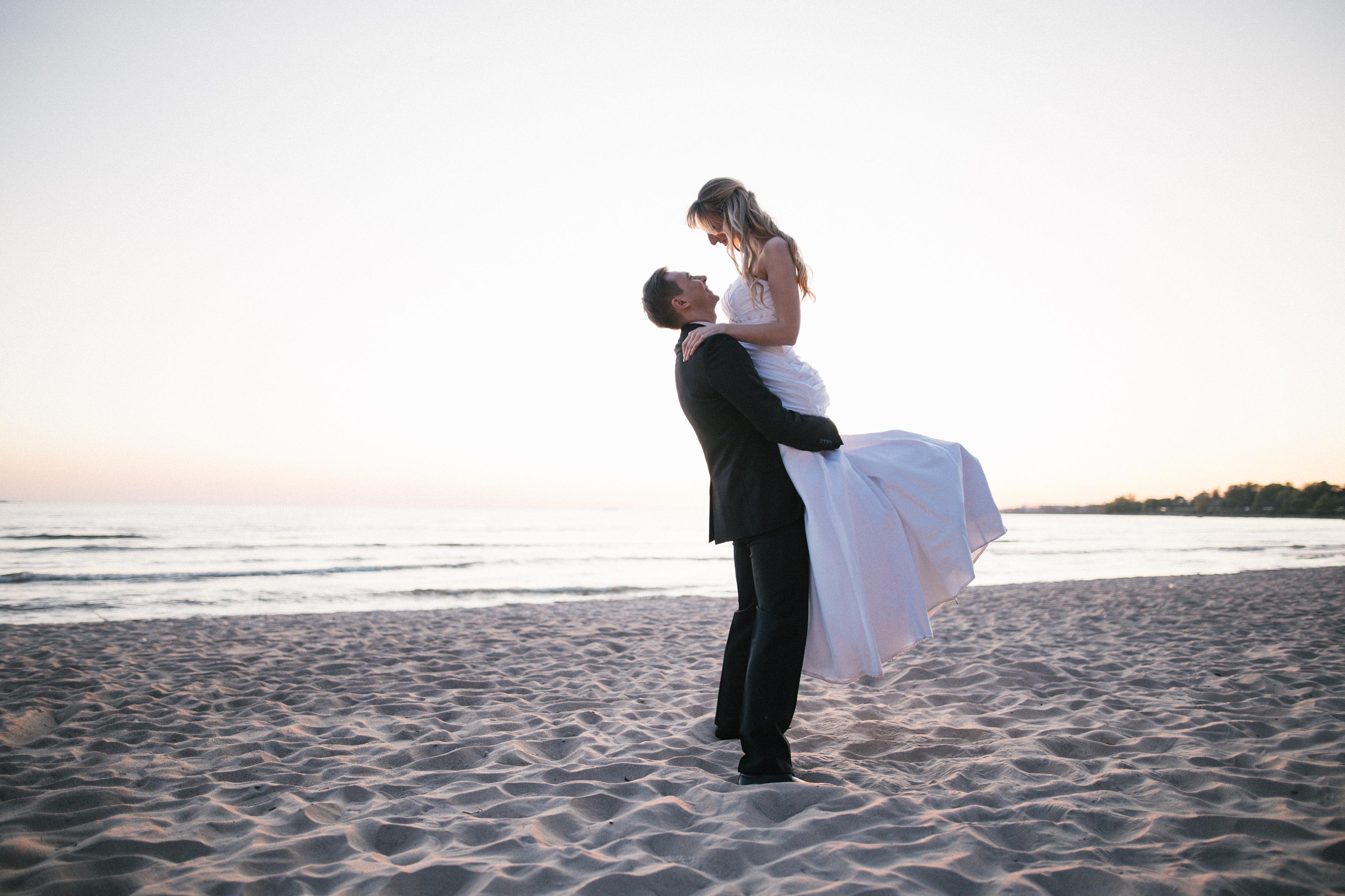 Suvised pulmad mererannas