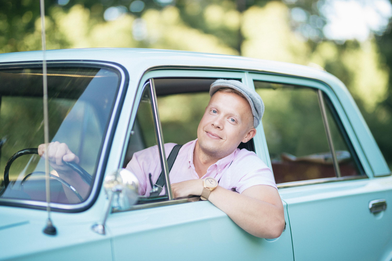 Mehe portree autoga