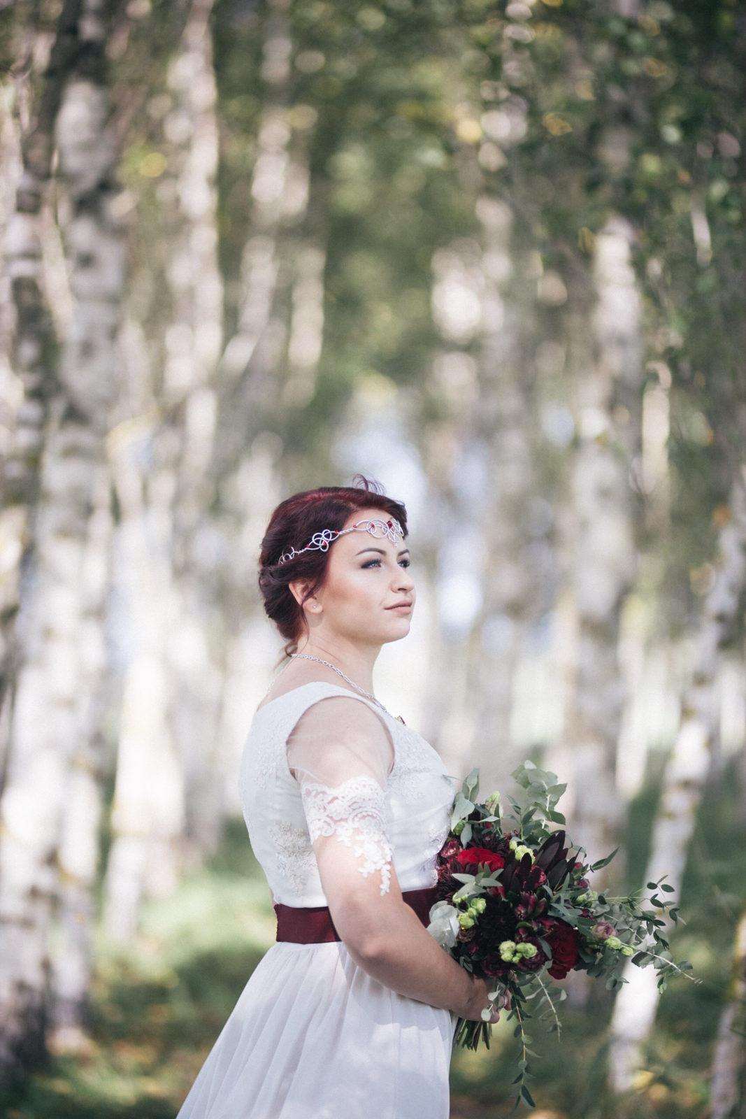 Pruutpaari pulmapäev fotosessioon fotograafiga