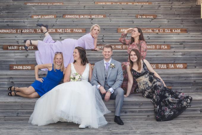 Lõbusad grupipildid pulmapeol